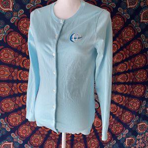 Lands end light blue cardigan for Sale in Orem, UT