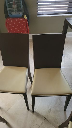 Calligaris chairs 6 Plus Table included for Free All Wenge Wood for Sale in Lutz, FL