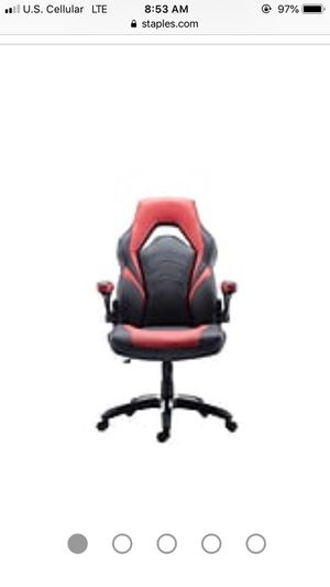 Red and black leather gaming chair for Sale in Loraine, IL