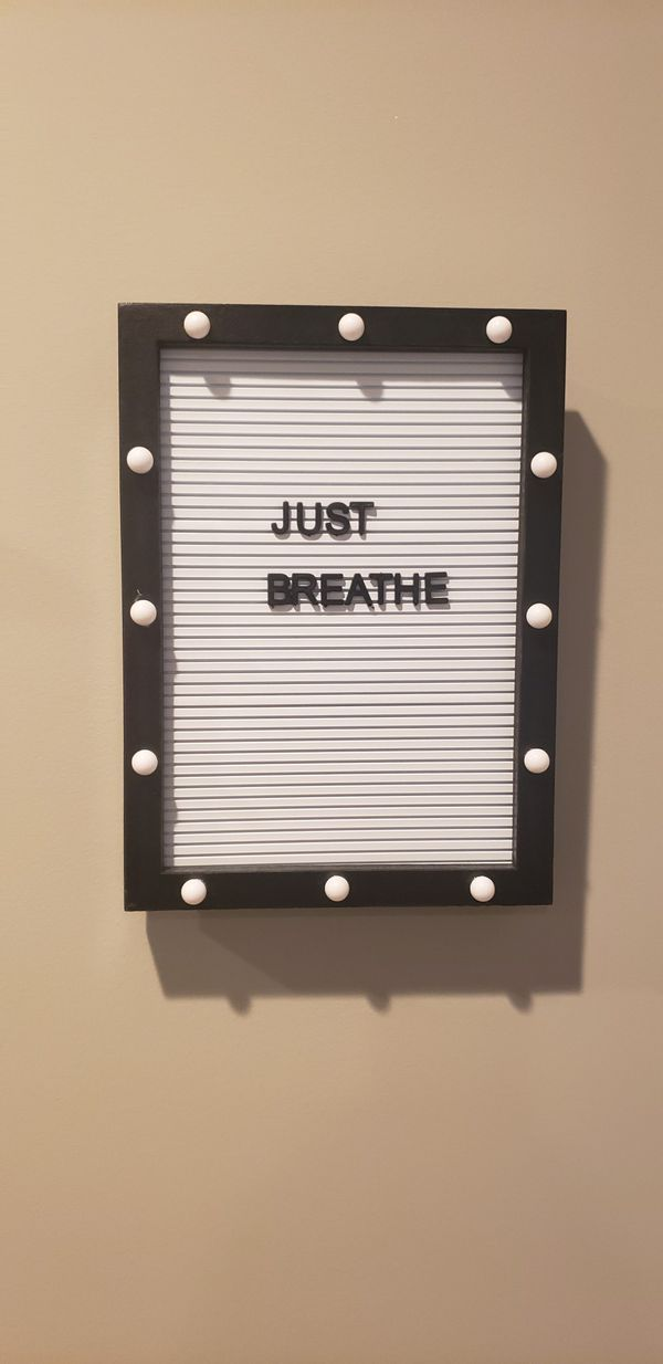 Letterboard. Like new. Send your offer