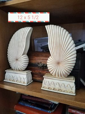 Coastal Nautical Shell Book Ends for Sale in Lake Elsinore, CA