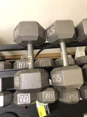 55 pound dumbbell set for Sale in Wexford, PA