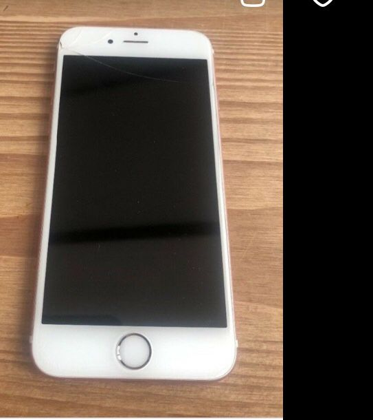 iPhone 6s Gold 128gb Unlocked to GSM Networks $140.00 with small thin crack on screen barely visible