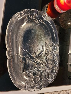 Small glass platter for Sale in Burlington, CT