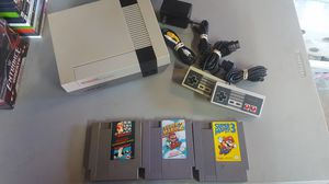 Nes complete w/3 games 2 controller and cables for Sale in Rancho Cucamonga, CA