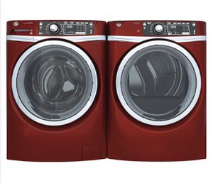 GE - 4.9 Cu. Ft. 13-Cycle Front-Loading Washer - Ruby red for Sale in North Las Vegas, NV