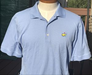 Slazenger Masters Collection Augusta National Blue Golf Polo Shirt Size Large for Sale in Mableton, GA