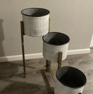 Three tier flower pot stand for Sale in Bridgeview, IL