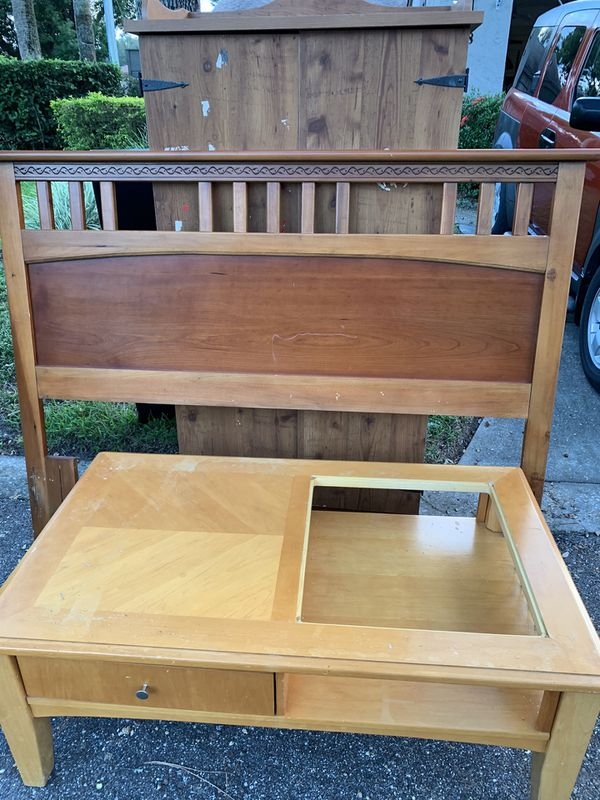 FREE: Head board, Chest and Coffee Table