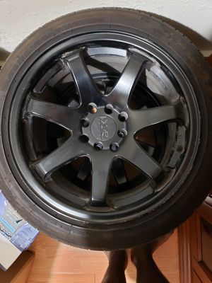 XXR 551 16×7 rims 4×100 & 4×114.3 with streched tires for Sale in Arlington, TX