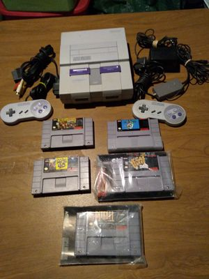 Original super Nintendo with games cords controller clean working and tested. for Sale in Addison, IL