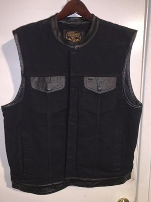 Milwaukee Denim / Leather vest (2XL) for Sale in Glendora, CA