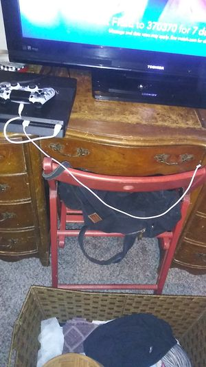 Antique bass. Real leather desk. for Sale in Irving, TX
