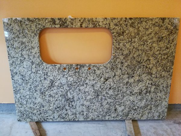 Granite slab kitchen