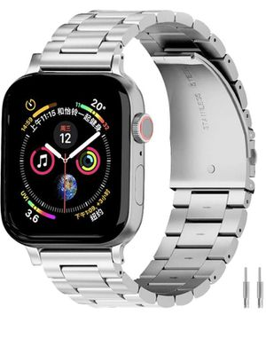 Band Compatible with Apple Watch 38mm 42mm Stainless Steel Wristband Metal Buckle Clasp iWatch 40mm 44mm Strap Replacement Bracelet for Apple Watch S for Sale in Las Vegas, NV