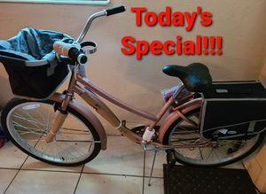 5 more New Cruiser Bike Rose Gold Removable Basket & Saddle Bag, Beverage & Smartphone Holder,, Storage Rack & Comfortable Seat for Sale in Miramar, FL