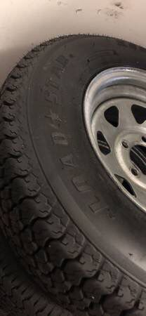 ST205/74R14 radial trailer tire with galvanized rims 5x4.5