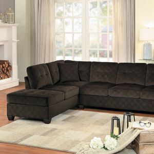 Emilio Chocolate Sectional 8367 VENDOR HOMELEGANCE for Sale in Houston, TX