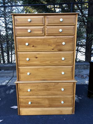 Solid Wood 9 Drawer Tallboy Dresser Price is Firm for Sale in Woodbridge, VA