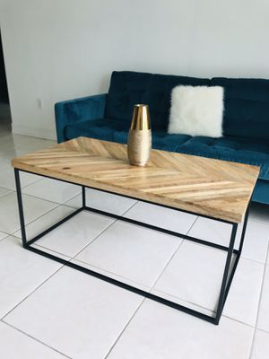 Wood And Metal Coffee Table for Sale in Miami, FL