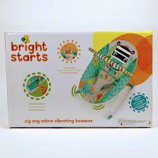 Bright Starts Zig Zag Zebra Vibrating Bouncer With 2 Playtime Toys. for Sale in Ashburn, VA