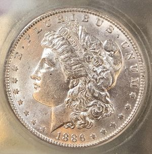 1886-O Silver Morgan Dollar 💵 $ ICG MS-61 for Sale in Sacramento, CA