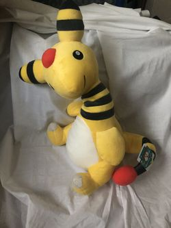 Two Pokémon Plushie Ampharos from Bandai Spirits for Sale in North Providence,  RI