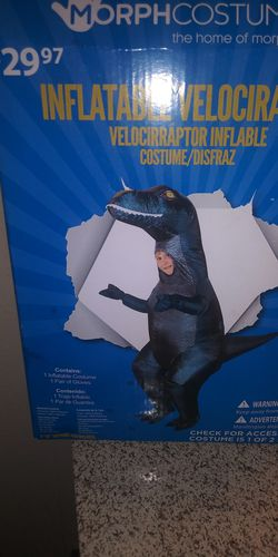Kids inflatable velociraptor costume for Sale in San Angelo,  TX