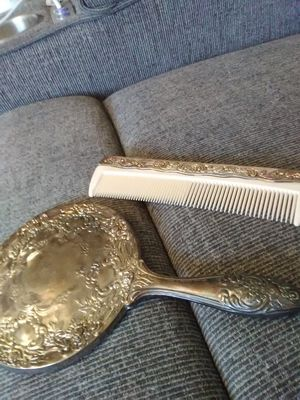 Silver antique mirror and comb set for Sale in Villa Rica, GA