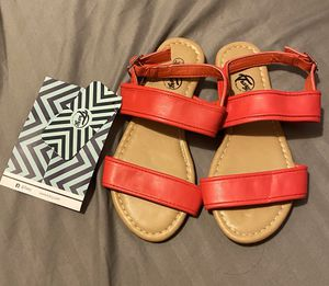 Girls red sandals brand new size 12 for Sale in Los Angeles, CA