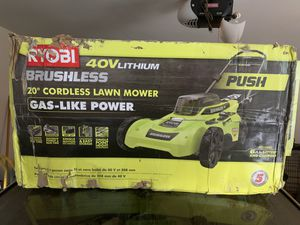 Ryobi cordless lawn mower and electric power washer with gun and 2 surface cleaners $225 for Sale in Austell, GA