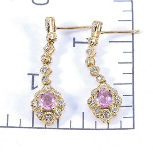 10kt Pink Sapphire and Diamond Earrings .68ctw sapp .18ctw Dia for Sale in Avondale, AZ