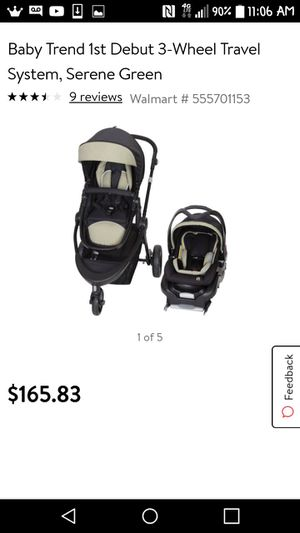 Baby trend car seat base bassinet and stroller for Sale in Port St. Lucie, FL