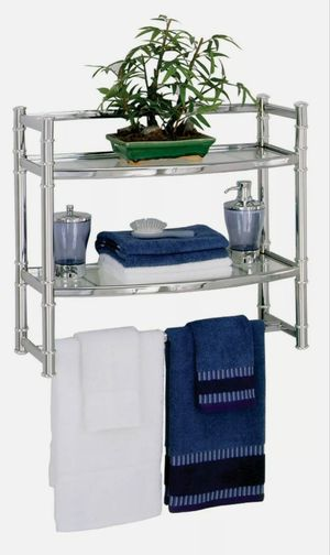 Zenith 9012ss Chrome Wall Shelf With Tempered Glass Shelves,No 9012SS for Sale in Las Vegas, NV