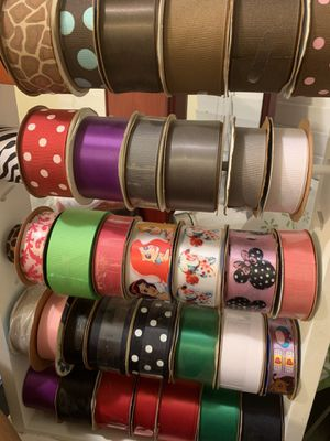 Tons of BOW MAKING tools/ribbon for Sale in South Gate, CA
