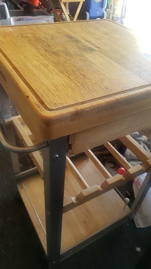 Wood storage shelf wine rack cutting board for Sale in Stockton, CA