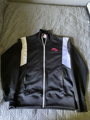 men's nike zip up classic sweater black white grey hot pink size medium for Sale in Montclair, CA