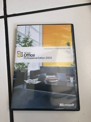 Microsoft Office professional Edition 2003 for Sale in Watsonville, CA