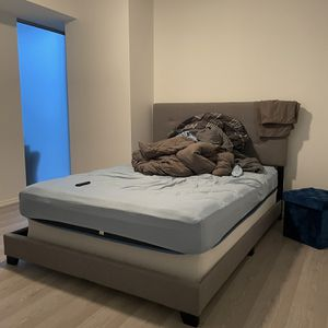 Queen Bed, Frame, Box spring And Couch $200! for Sale in Washington, DC