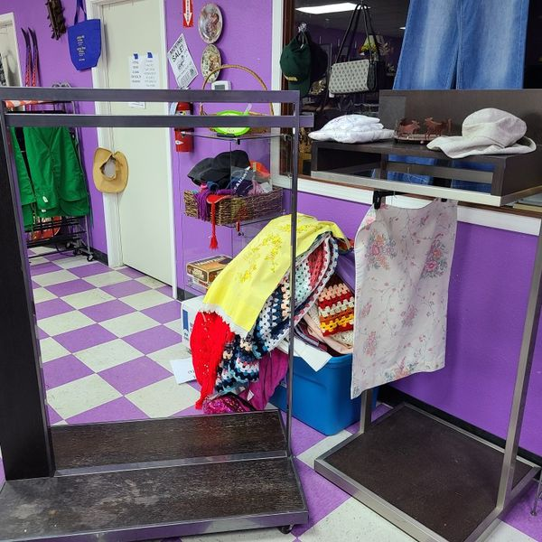 Clothing Rack on Wheels And Display