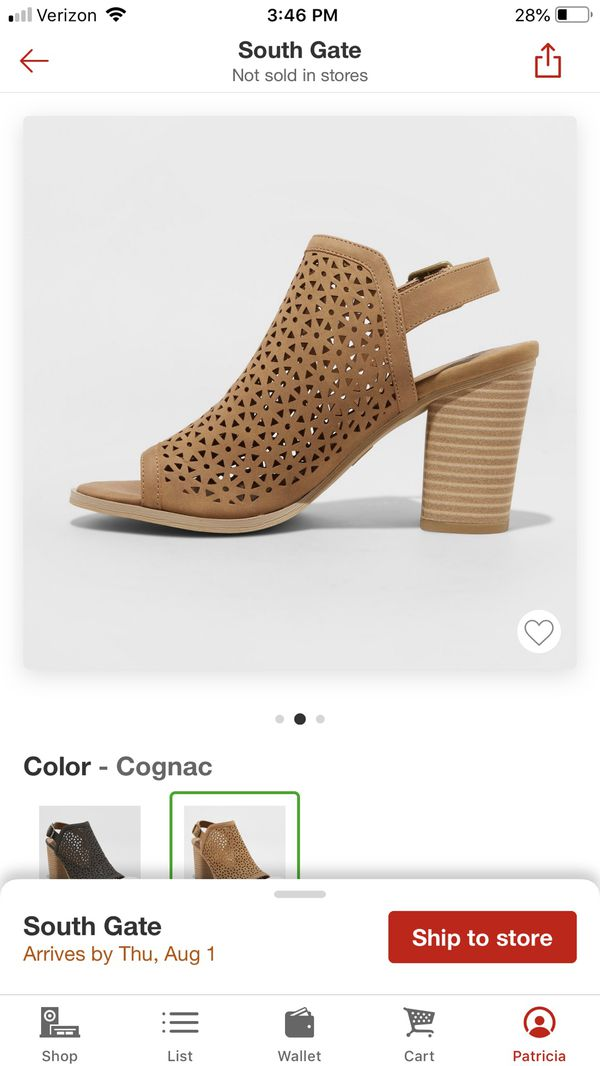 Brown high heel pumps