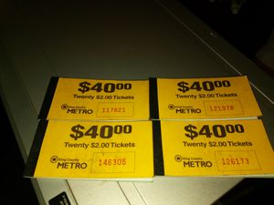 4 $40 dollars worth of metro bus tickets for Sale in North Bend, WA