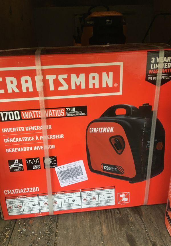 craftsman 2200watt generator/inverter