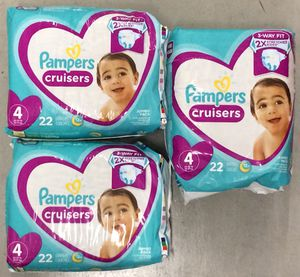 Pampers Cruisers Diapers Sz 4, 22ct (Pack of 3) for Sale in Atlanta, GA