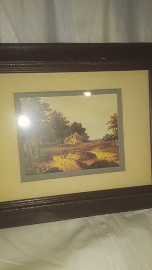 Antique small print lady walking w dog for Sale in Los Angeles, CA