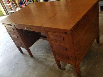 Antique Large Tiger Oak Desk for Sale in Brandon,  FL