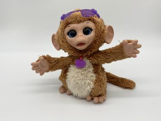 FurReal Friends Baby Cuddles My Giggly Monkey Pet Plush Ages 4+ Toy Play Jungle. This Giggle FurReal Friends monkey dances and interacts for Sale in Charleston,  WV