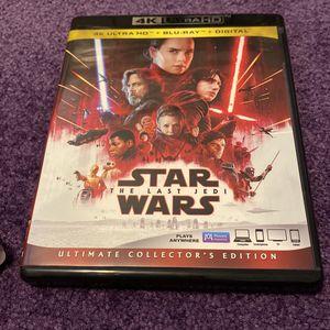 STAR WARS the Last Jedi 4K for Sale in Wallingford, CT