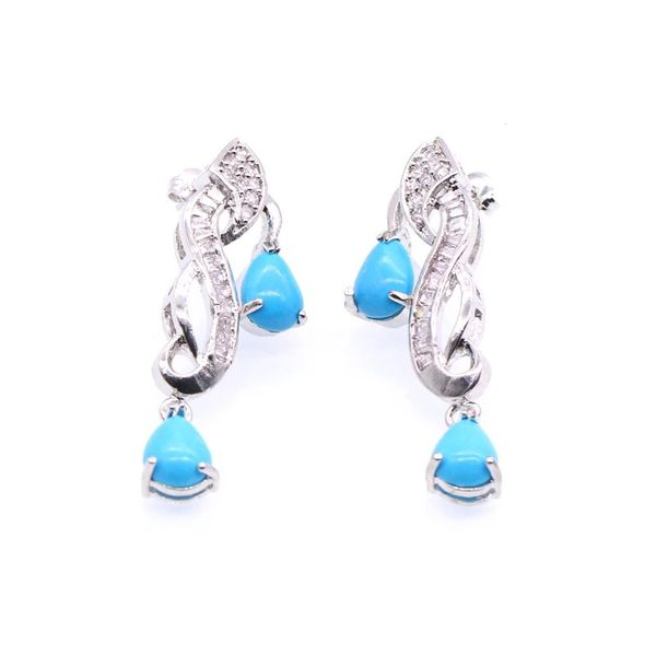 AMAZING CHRISTMAS GIFTS 5 pcs turquoise set with baguette and cz