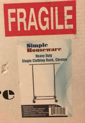 Simple Housewares chrome clothing rack for Sale in San Diego, CA